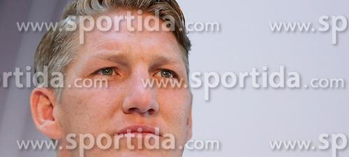 08.06.2015, Mercedes Benz Zenter, Koeln, GER, Nationalmannschaft, Pressekonferenz, im Bild Bastian Schweinsteiger (FC Bayern Muenchen) // during a press conference of the german national football team at the Mercedes Benz Zenter in Koeln, Germany on 2015/06/08. EXPA Pictures &copy; 2015, PhotoCredit: EXPA/ Eibner-Pressefoto/ Sch&uuml;ler<br /> <br /> *****ATTENTION - OUT of GER*****