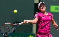 Justine HENIN (BEL) against Caroline WOZNIACKI (DEN) in the Quarter Finals of the women's singles. Justine Henin beat Caroline Wozniacki 6-7 6-3 6-4..International Tennis - 2010 ATP World Tour - Sony Ericsson Open - Crandon Park Tennis Center - Key Biscayne - Miami - Florida - USA - Wed 31st Mar 2010..© Frey - Amn Images, Level 1, Barry House, 20-22 Worple Road, London, SW19 4DH, UK .Tel - +44 20 8947 0100.Fax -+44 20 8947 0117