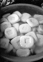 As a staple tofu for sale. Cambodia. Pentax Spotmatic. 2004