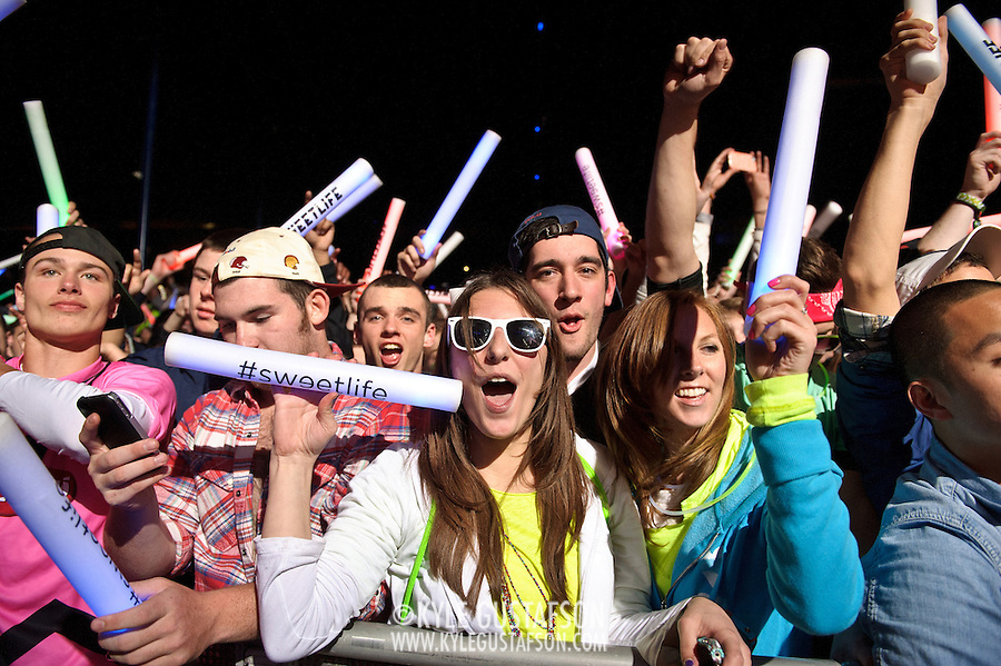COLUMBIA, MD - April 28th, 2012 -  Fans watch headlining DJ Avicii perform at the 2012 Sweetlife Food and Music Festival at Merriweather Post Pavilion in Columbia, MD.  (Photo by Kyle Gustafson/For The Washington Post)