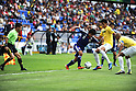 (L-R) Hideki Ishige (JPN), Marlon Bica, Marquinhos (BRA),JULY 3, 2011 - Football :2011 FIFA U-17 World Cup Mexico Quarterfinal match between Japan 2-3 Brazil at Estadio Corregidora in Queretaro, Mexico. (Photo by AFLO)
