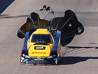 Feb 25, 2017; Chandler, AZ, USA; NHRA funny car driver J.R. Todd during qualifying for the Arizona Nationals at Wild Horse Pass Motorsports Park. Mandatory Credit: Mark J. Rebilas-USA TODAY Sports