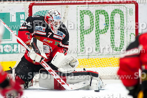 28.12.2015, Ice Rink, Znojmo, CZE, EBEL, HC Orli Znojmo vs HCB Suedtirol, 36. Runde, im Bild Patrik Nechvatal (HC Orli Znojmo) // during the Erste Bank Icehockey League 36nd round match between HC Orli Znojmo and HCB Suedtirol at the Ice Rink in Znojmo, Czech Republic on 2015/12/28. EXPA Pictures © 2015, PhotoCredit: EXPA/ Rostislav Pfeffer