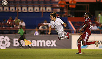 Megan Rapinoe of United States heads the ball. The US Women's National Team defeated Haiti 5-0 during the CONCACAF Women's World Cup Qualifying tournament at Estadio Quintana Roo in Cancun, Mexico on October 28th, 2010.