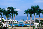 The swimming pool and view of the ocean at the Four Seasons Wailea, Maui, Hawaii