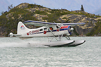 Beaver C-GMGD takes off from a remote Yukon lake.