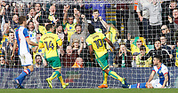 Norwich City's Cameron Jerome celebrates scoring his sides first goal <br /> <br /> Photographer David Shipman/CameraSport<br /> <br /> The EFL Sky Bet Championship - Norwich City v Blackburn Rovers - Saturday 11th March 2017 - Carrow Road - Norwich<br /> <br /> World Copyright &copy; 2017 CameraSport. All rights reserved. 43 Linden Ave. Countesthorpe. Leicester. England. LE8 5PG - Tel: +44 (0) 116 277 4147 - admin@camerasport.com - www.camerasport.com