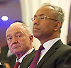 Lutfur Rahman <br /> Mayor of Tower Hamlets<br /> support rally in Mile End Road, east London, Great Britain <br /> 12th November 2014 <br /> <br /> Mayor Lutfur Rahman <br /> <br /> ex mayor of London <br /> Ken Livingstone<br /> <br /> <br /> <br /> <br /> <br /> Photograph by Elliott Franks <br /> Image licensed to Elliott Franks Photography Services