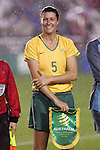 27 April 2008: Cheryl Salisbury (AUS). The United States Women's National Team defeated the Australia Women's National Team 3-2 at WakeMed Stadium in Cary, NC in a women's international friendly soccer match following a brief delay for lightning.