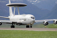 AWACS , Boeing E-3 Sentry, airborne early warning and control aircraft. Nato Tiger Meet is an annual gathering of squadrons using the tiger as their mascot. While originally mostly a social event it is now a full military exercise. Tiger Meet 2012 was held at the Norwegian air base Ørlandet.