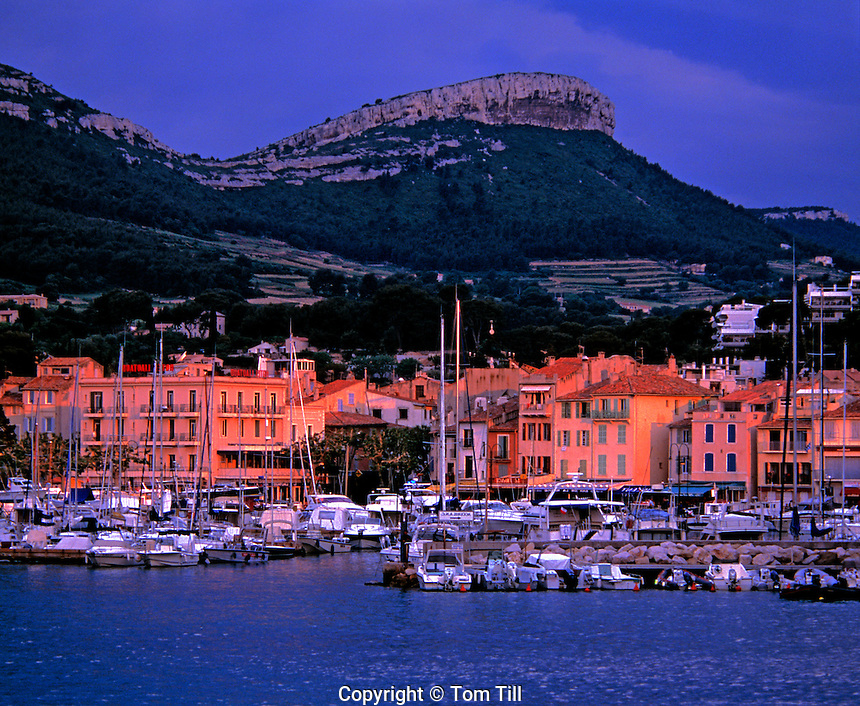 Boats and port of Cassis  Provence, France  Mediterranean Sea  7th Century town near Calanques