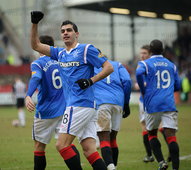 Salim Kerkar celebrates his goal