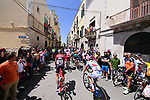 The start of Stage 8 of the 100th edition of the Giro d'Italia 2017, running 189km from Molfetta to Peschici, Italy. 1th May 2017.<br /> Picture: LaPresse/Gian Mattia D'Alberto | Cyclefile<br /> <br /> <br /> All photos usage must carry mandatory copyright credit (&copy; Cyclefile | LaPresse/Gian Mattia D'Alberto)