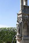 Statue in Notre Dame Park in Spring, Paris, France