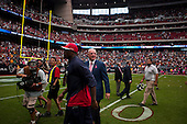 Houston, Texas<br /> October 2, 2011<br /> <br /> Owner of the Houston Texans Bob McNair celebrating with team mates a victory for the Houston Texans as they defeated the Pittsburgh Steelers at the Reliant Stadium. The Texans won 17 to 10.
