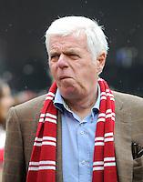 FUSSBALL   1. BUNDESLIGA  SAISON 2011/2012   34. Spieltag 1. FC Koeln - FC Bayern Muenchen        05.05.2012 Praesident Werner Spinner (1. FC Koeln)