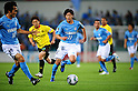 Yuki Kobayashi (Jubilo), JUNE 15th, 2011 - Football : Yuki Kobayashi #22 and Ryoichi Maeda #18 of Jubilo Iwata in action during the 2011 J.League Division 1 match between Kashiwa Reysol 0-3 Jubilo Iwata at Hitachi Kashiwa Soccer Stadium in Chiba, Japan. (Photo by AFLO)..