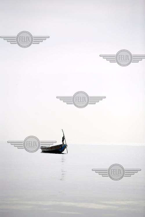 Fisherman off the Gambian coast.