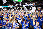 02 APR 2012:  University of Kentucky students erupt during the 2012 NCAA Men's Division I Basketball Championship Final Four held at the Mercedes-Benz Superdome hosted by Tulane University in New Orleans, LA.  The University of Kentucky beat the University of Kansas 67-59. Joshua Duplechian/ NCAA Photos