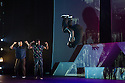Boy Blue Entertainment perform THE FIVE AND THE PROPHECY OF PRANA at the Barbican theatre. Dancers are: Michele 'Paleta' Rhyner, Bradley 'Bradz' Charles, Theo 'Godson' Oloyade, Kofi 'Klik' Mingo, Xena Gusthart, Vicky 'Skytilz' Mantey, Duwane Taylor, Kayla Lomas-Kirton, shaun Smith, Hakim Saber and Jumar Aben. Picture shows: Bradley 'Bradz' Charles, Theo 'Godson' Oloyade. Photograph © Jane Hobson.