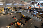 "World War Two Gallery. B-29 Superfortress the ""Enola Gay"" the aircraft that dropped the first atomic bomb over Japan in 1945 at the end of WWII. Two Japanese aircraft are directly below it. The National Air and Space Museum, Smithsonian Institution The Steven F. Udvar-Hazy Center near Washington Dulles International Airport is the companion facility to the Museum on the National Mall..."