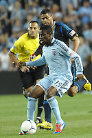 Peterson Joseph (19) Sporting KC midfielder in action..Sporting Kansas City defeated Philadelphia Union 2-1 at LIVESTRONG Sporting Park, Kansas City, KS.