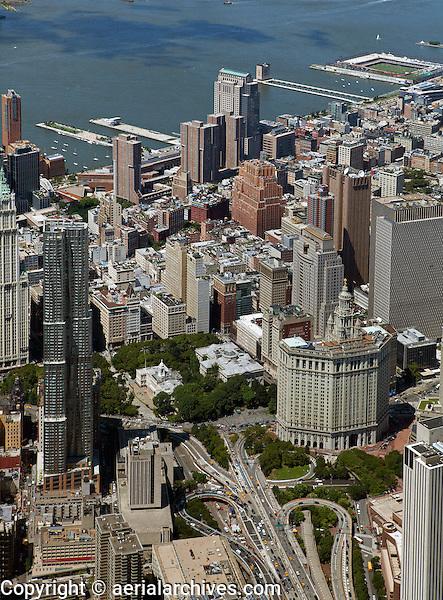 aerial photograph Civic Center, Manhattan, New York City