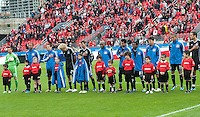24 March 2012: The San Jose Earthquakes team during the opening ceremonies in a game between the San Jose Earthquakes and Toronto FC at BMO Field in Toronto..The San Jose Earthquakes won 3-0..