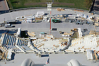The Presidential Inauguration Stand is seen under construction from the top of the newly-restored Capitol Dome at the US Capitol in Washington, DC, November 15, 2016.  <br /> Credit: Olivier Douliery / Pool via CNP /MediaPunch