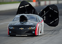 Sept. 4, 2011; Claremont, IN, USA: NHRA pro mod driver Rickie Smith during qualifying for the US Nationals at Lucas Oil Raceway. Mandatory Credit: Mark J. Rebilas-