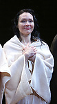 Katrina Lenk during the Broadway Opening Night Performance Curtain Call Bows for  'Indecent' at The Cort Theatre on April 18, 2017 in New York City.