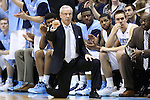 18 January 2014: UNC head coach Roy Williams. The University of North Carolina Tar Heels played the Boston College Eagles in an NCAA Division I Men's basketball game at the Dean E. Smith Center in Chapel Hill, North Carolina. UNC won the game 82-71.