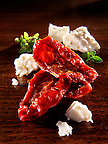 sun dried tomatoes with feta cheese and oregano