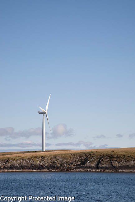 Wind Turbine in the Orkney Islands, Scotland