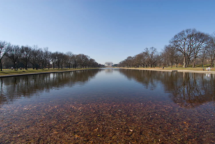 Washington DC; USA: The Reflecting Pool on the National Mall, with the Lincoln Memorial in the background.Photo copyright Lee Foster Photo # 5-washdc76204.