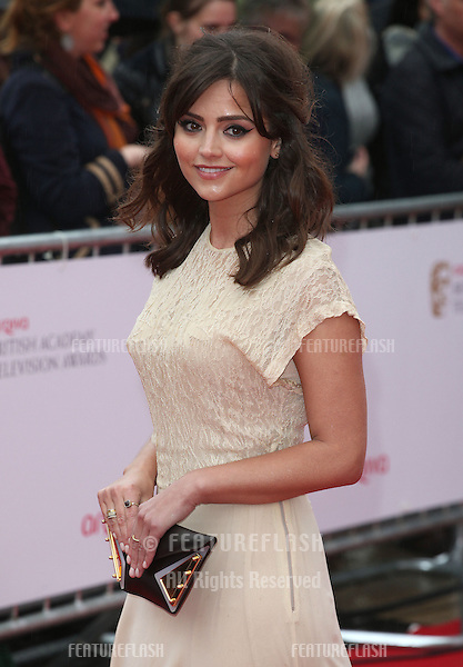 Jenna-Louise Coleman arriving for the TV BAFTA Awards 2013, Royal Festival Hall, London. 12/05/2013 Picture by: Alexandra Glen / Featureflash