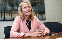 NWA Democrat-Gazette/JASON IVESTER --04/02/2015--<br /> Cynda Patton, Special Olympics coach; photographed on Thursday, April 2, 2015, inside Lincoln Jr High School in Bentonville for nwprofiles spotlight