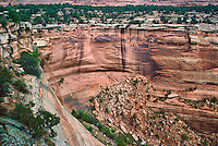 Colorado, Colorado National Monument, Grand Junction, elevated view of Canyon, Waterfall