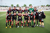 D.C. United lines up before the quarterfinals of the US Open Cup at the Maryland SoccerPlex in Boyds, Md.  D.C. United defeated the New England Revolution, 3-1.