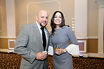 Waterbury, CT- 20 April 2017-042017CM14-  From left, Felix Rodriguez  vice president with the Waterbury Board of Education and Melissa Vargas a teacher at Rotella Magnet School are photographed during The Rivera Memorial Foundation 17th annual scholarship awards banquet on Thursday, April 20th at La Bella Vista in Waterbury.   Christopher Massa Republican-American