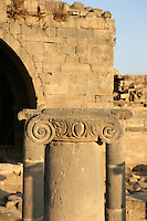 Ionic column, Roman baths, 3rd century AD, Bosra, Syria Picture by Manuel Cohen