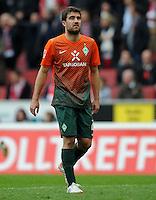 FUSSBALL   1. BUNDESLIGA   SAISON 2011/2012   29. SPIELTAG 1. FC Koeln - SV Werder Bremen                           07.04.2012 Sokratis Papastathopoulos (SV Werder Bremen) ist nach dem Abpfiff enttaeuscht