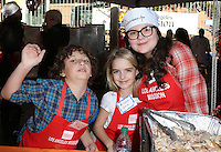 Los Angeles, CA - NOVEMBER 23: August Maturo, Mckenna Grace, Marlowe Peyton, At Los Angeles Mission Thanksgiving Meal For The Homeless At Los Angeles Mission, California on November 23, 2016. Credit: Faye Sadou/MediaPunch