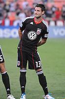 D.C. United midfielder Chris Pontius (13). D.C. United defeated The Vancouver Whitecaps FC 4-0 at RFK Stadium, Saturday August 13 , 2011.