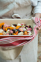 Oven roasted beetroot and pumpkin