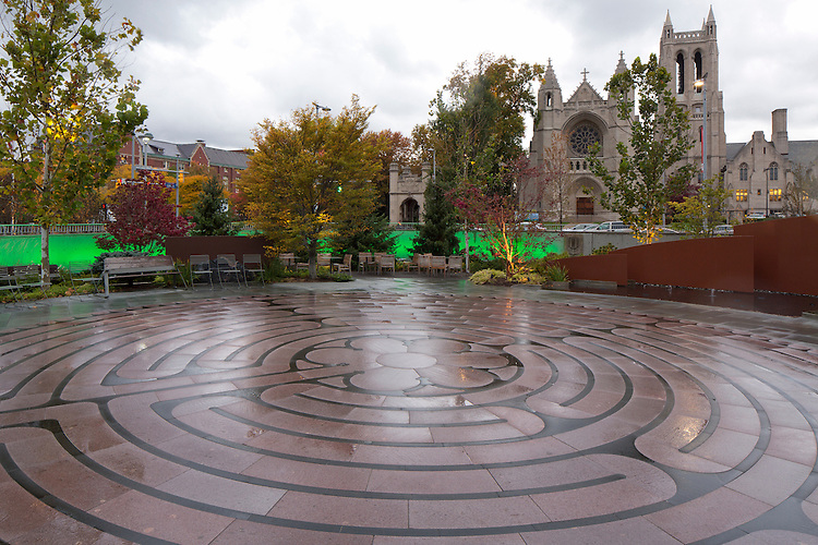 Seidman Cancer Center Healing Garden Fall Photography
