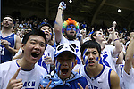 04 February 2015: Duke fans. The Duke University Blue Devils hosted the Georgia Tech Yellow Jackets at Cameron Indoor Stadium in Durham, North Carolina in a 2014-16 NCAA Men's Basketball Division I game. Duke won the game 72-66.