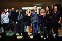 "Greg Phillinganes, Lionel Loueke, Herbie Hancock, Susan Tedeschi, Derek Trucks, Tal Wilkenfeld, Kristina rain and Vinnie Colaiuta at Herbie Hancock's ""Seven Decades: The Birthday Celebration"" at Carnegie Hall. June 24, 2010"