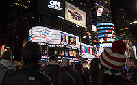 NY, NEW YORK, NOVEMBER 8:People gather in Times Square as they await the results of the presidential election in New York on Nov. 8, 2016. <br />  Photo by VIEWpress/Maite H. Mateo.