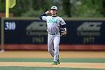 WAKE FOREST, NC - APRIL 15: Notre Dame's Cole Daily. The Wake Forest Demon Deacons hosted the University of Notre Dame Fighting Irish on April 15, 2017, at David F. Couch Ballpark in Wake Forest, NC in a Division I College Baseball game. Wake Forest won the game 13-7.
